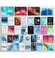 Set of Flyers background infographics brochures vector image vector image