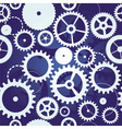 blue seamless pattern with cogs and gears vector image vector image