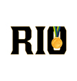 Rio Olympics 2016 Gold Medal Icon vector image