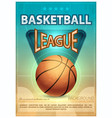 basketball tournament sports poster vector image