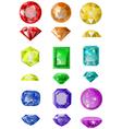 set of precious stones vector image