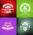 Set of Retro Happy Halloween Badges Design Element vector image