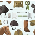 Horse riding pattern vector image