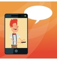 Cartoon and mobile lifestyle design vector image