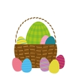 Happy easter eggs isolated icon vector image