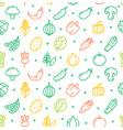 vegetables food shop pattern background vector image