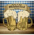 beer background Oktoberfest vector image vector image