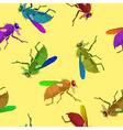 flies pattern vector image vector image