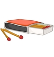 cartoon home kitchen matches vector image