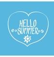 Hello Summer funny vector image