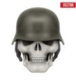 Human skulls with German Army helmet vector image