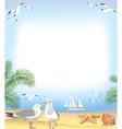 Sea beach frame vector image vector image