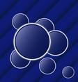 Set abstract balls as speech bubbles vector image