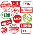 Set of stamps and labels vector image vector image