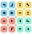 set of 16 simple pointer icons can be found such vector image