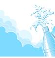 Splashing clean water vector image vector image