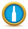 Gold bottle icon vector image vector image