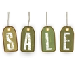 grunge paper sale tags eps 8 vector image