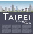 Taipei skyline with grey landmarks vector image