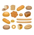 Bread bakery products vector image