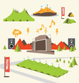 Summer Music Festival Graphics vector image