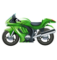 A green motorcycle vector image