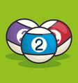 billiard balls isolated icon vector image