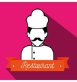 chef uniform restaurant icon vector image