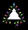 christmas tree garland lights vector image