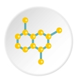 Molecule structure icon flat style vector image
