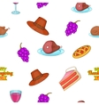 Thanksgiving day pattern cartoon style vector image