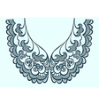 embroidery collar pattern lace vector image