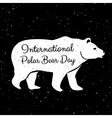 International polar bear day vector