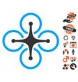 airdrone icon with love bonus vector image