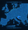 europe abstract map croatia vector image