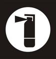 fire extinguisher icon - black vector image