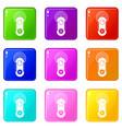 game joystick icons 9 set vector image