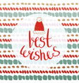 best wishes - new year card for greetings cards vector image