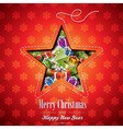 Christmas with abstract star design vector image vector image