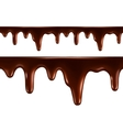 Drops of melted chocolate Seamless vector image