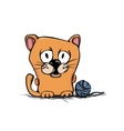 cute cartoon kitty vector image