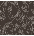 seamless pattern of graceful female hands vector image