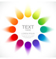 Abstract color wheel vector image