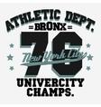 Sport Typography Graphics T-shirt vector image