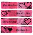 love banners vector image