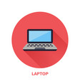 black laptop notebook with blank screen flat style vector image