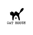 cat house concept design template vector image
