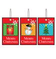 Christmas Swing Tags vector image