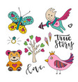 decoration for valentines love day set of cute vector image