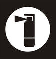 fire extinguisher icon - black vector image